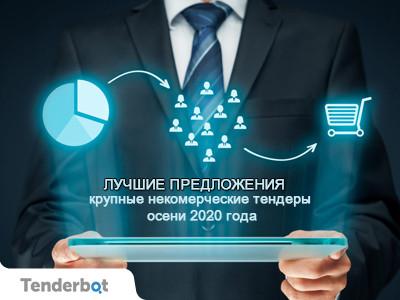 Лучшие предложения: крупные некоммерческие тендеры осени 2020 года.
