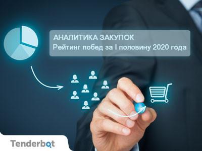 Аналитика закупок: Рейтинг побед за I половину 2020 года