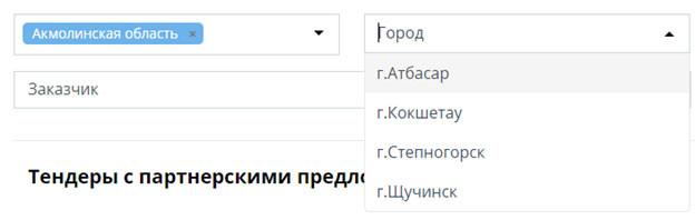 Возможности портала - Tenderbot.kz